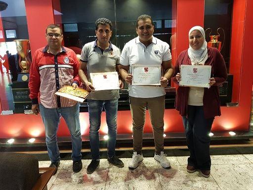 الفائزين بمسابقة تطبيق اعضاء النادي الاهلي